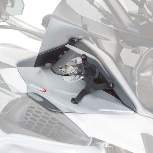 BMW R1200GS (13-17) Upper Wind Deflectors Light Smoke M9847H