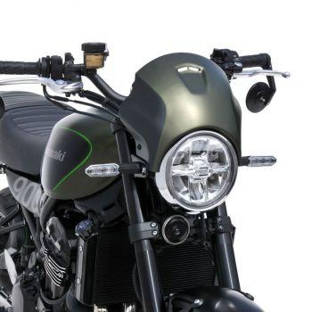 Kawasaki Z900RS (18+) Nose Fairing: Matt Covert Green and Flat Ebony 1503S68-GE