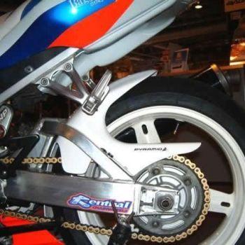 Suzuki GSXR1000 (01-02) Rear Hugger: Gloss White 07015C