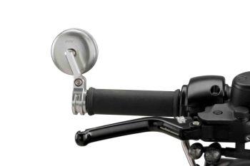 Universal Motorcycle Tracker Rearview Bar End Mirror Aluminium M9506D
