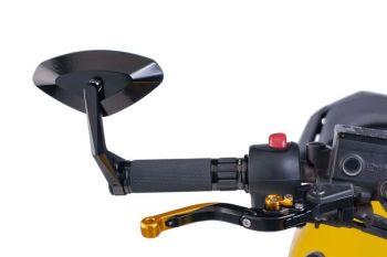 Universal Motorcycle  High-Tech 4 Rearview Mirror Black M6994N