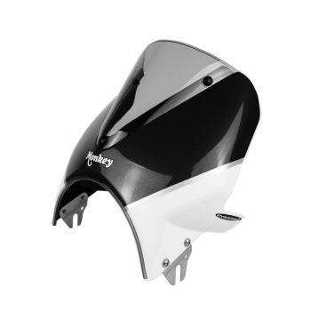 Honda Monkey 125 (18+) Vision Fly Screen: Black / White 21250B