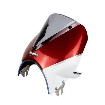 Honda Monkey 125 (18+) Vision Fly Screen: Red / White 21250R