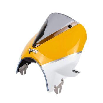 Honda Monkey 125 (18+) Vision Fly Screen: Yellow / White 21250Y