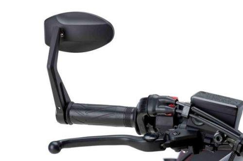 Universal Motorcycle MP Rearview Bar End Mirror Black M5220N