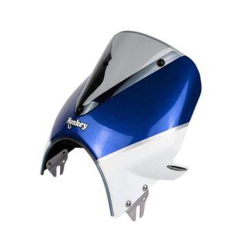 Honda Monkey 125 (18+) Vision Fly Screen: Blue / White 21250GB