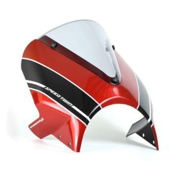 Triumph Speed Twin (19+) Fly Screen Korosi Red and Storm Grey 26000R