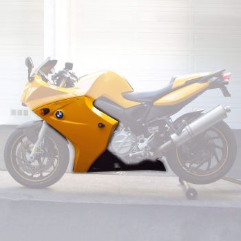 BMW F800 S (05-12) Fairing Lowers and Belly Pan 3 piece set Gloss Yellow 245000E