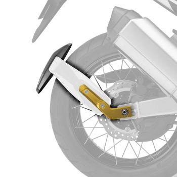 Honda CRF1000L Africa Twin (16-19) Rear Spray Guard Hugger Alternative Gloss White + Gold Arm 085102C