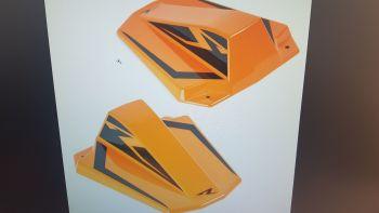 KTM 1290 Superduke R (20+) Seat Cowl Gloss Orange and Gloss Blue 19990D