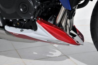 Honda CB1000R (2008-12) Belly Pan: White (Red Stripes)