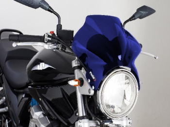 Cockpit - Universal Motorcycle Screen for Naked Bikes: Blue X-04807C