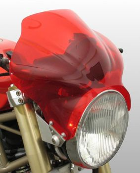 Cockpit - Universal Motorcycle Screen for Naked Bikes: Red X-04807D