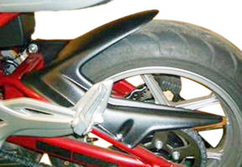 Kawasaki ER-6F (06-08) Rear Hugger: Satin Black 073226D