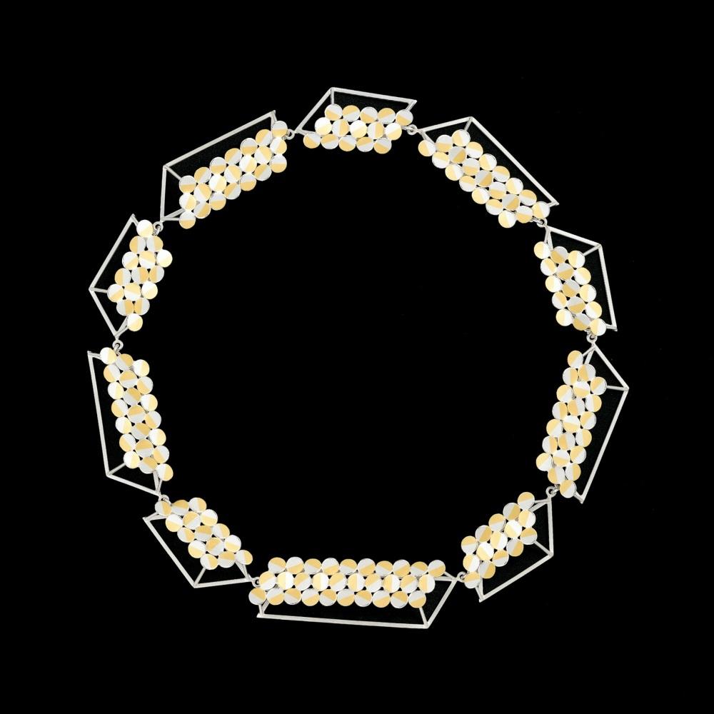 Rhombus 3D chain necklace