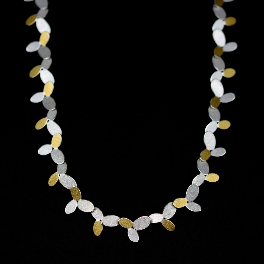Mixed ovals long chain necklace