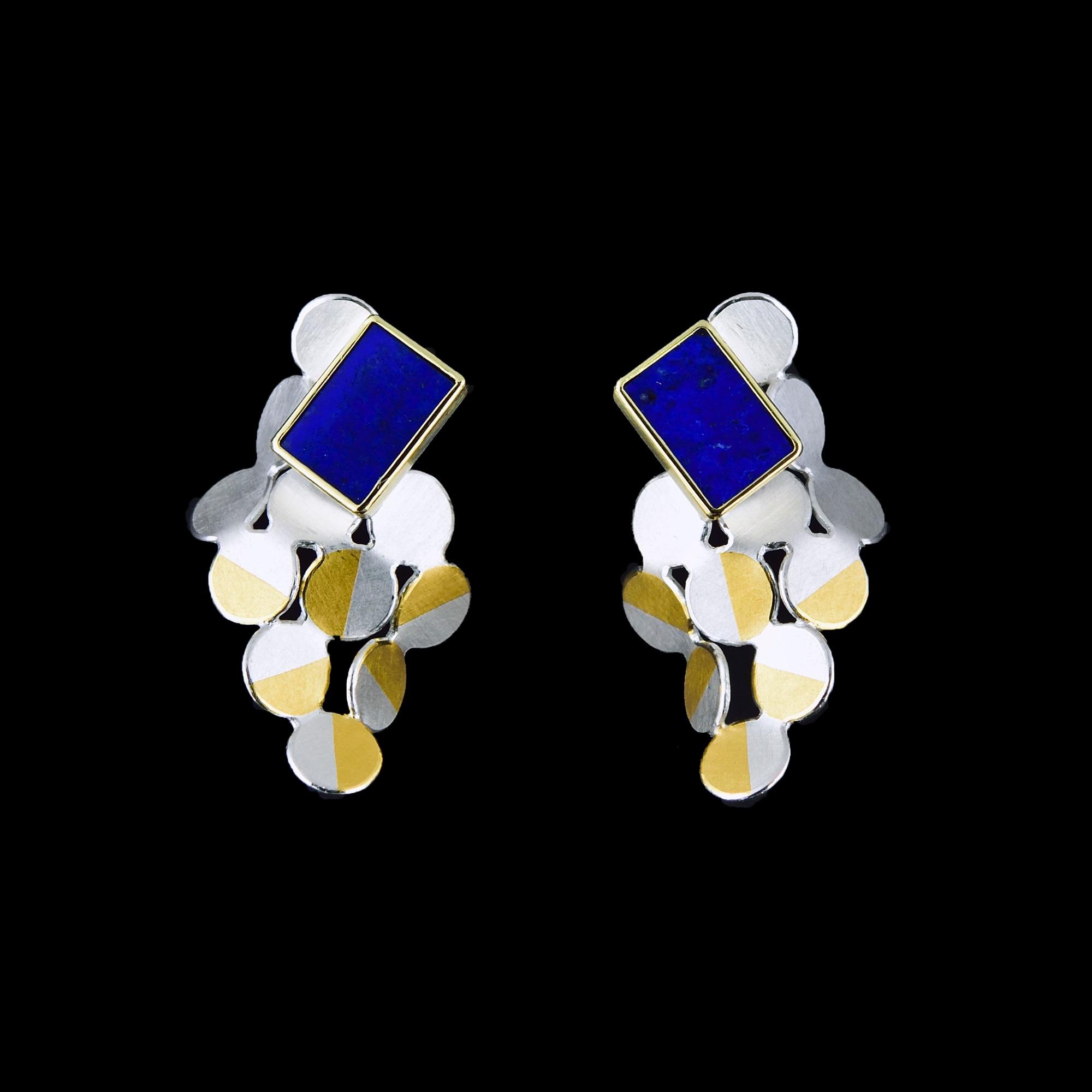 Rhombus lapis earrings