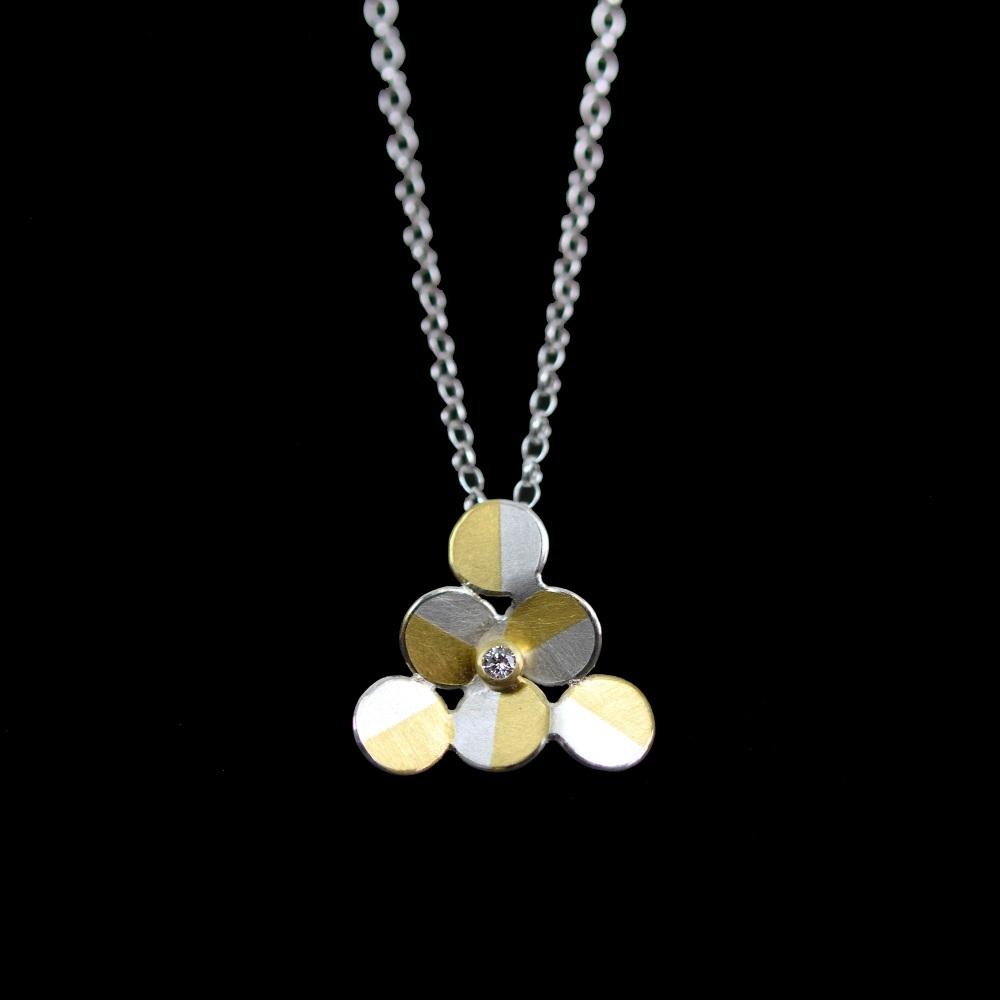 Triangle pendant with diamond