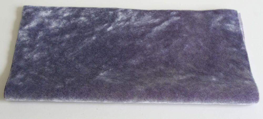 Vintage Rayon Fabric - Steel Blue Purple