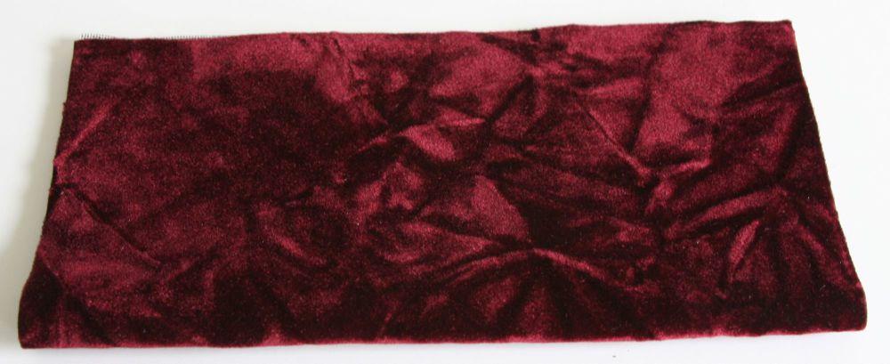 Vintage Rayon Fabric - Burgundy Wine