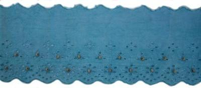 broidery englaise trim - Blue