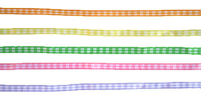 Chequered Ribbon - Various Colours
