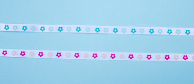 Flower Ribbon - Blue or Pink