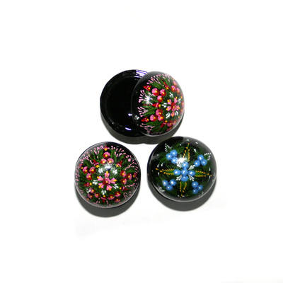 Laquered Box - Small dome shaped (1pc)