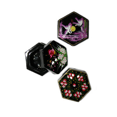 Laquered Box - Large hexagonal (1pc)