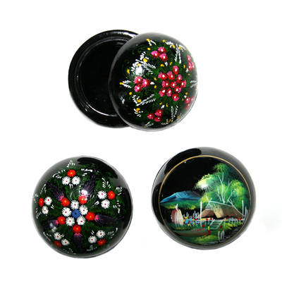 Laquered Box - Large dome shaped (1pc)