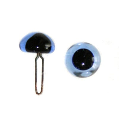 Quality English Glass Eyes - BLUE - 4, 5, & 6mm Sizes - 2 pairs