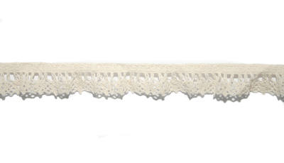 Cream cotton gathered lace 2cm x 1 metre