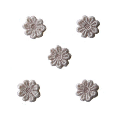 Guipure lace flowers - Pale Pink (pack of 5)