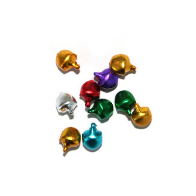 Jingle Bells - Jewel coloured - 10mm - 10 Pack