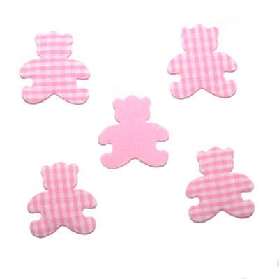 Gingham Padded Bears - Pink