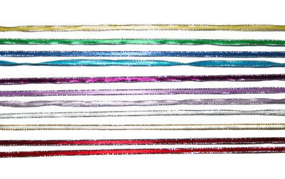 Satin Ribbon - 4mm x 1metre - Various Colours - Silver/Gold Edged