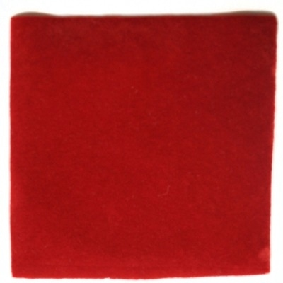 Medium Pile Cashmere - Barn Red