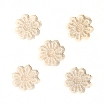 Guipure lace flowers - Pale Peach (pack of 5)