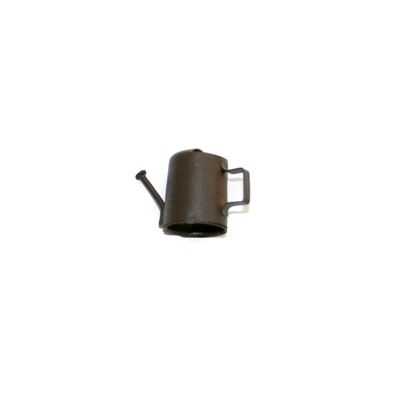 Miniature rusted watering can