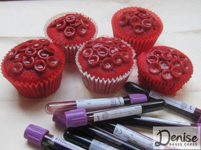 Red Blood Cell Cupcakes