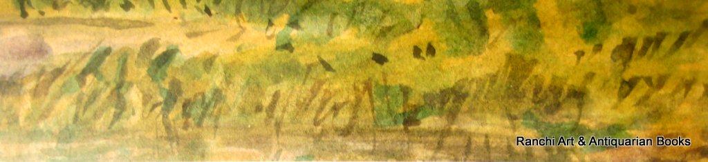 Rydal Lake watercolour unsigned c1900. Lower RH corner, reeds.