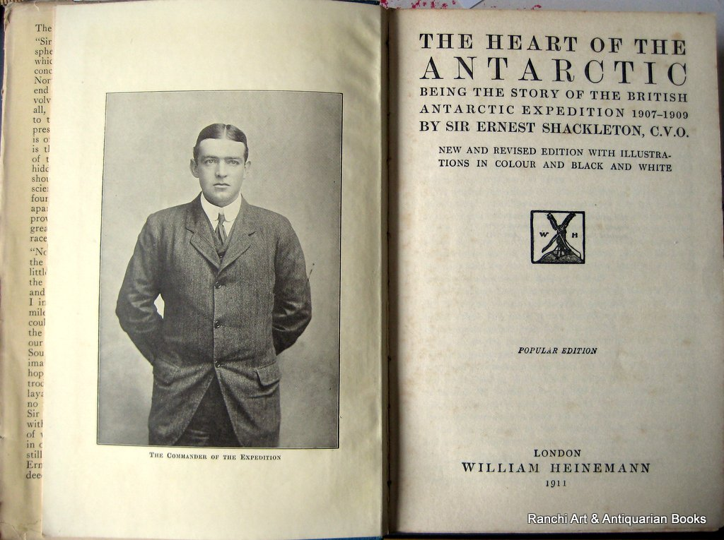 The Heart of the Antarctic, Sir Ernest Shackleton, 1st Reprint, 1911. Detail.