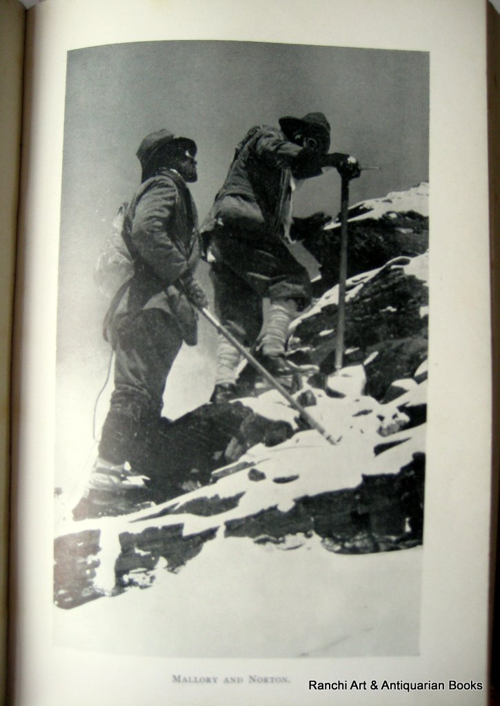 The Epic of Mount Everest by Sir Francis Younghusband 1st Edn., 5th Reprint, 1929. Detail.