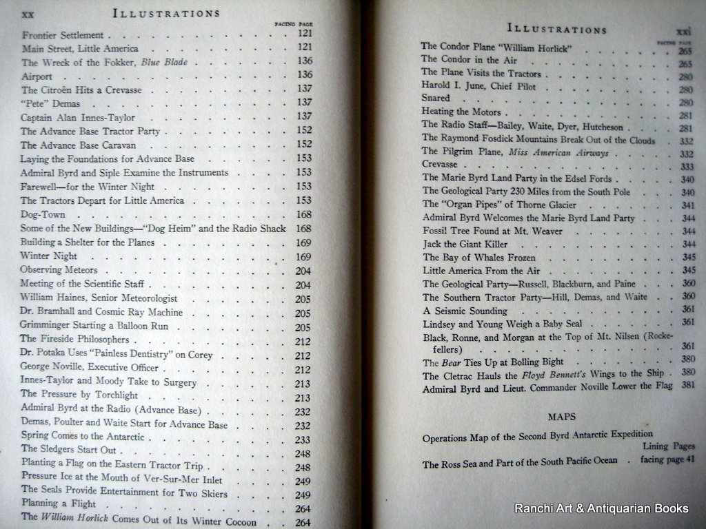 Discovery, Richard E. Byrd, Putnam's Sons, New York, 1935. 2nd Ed. Detail.