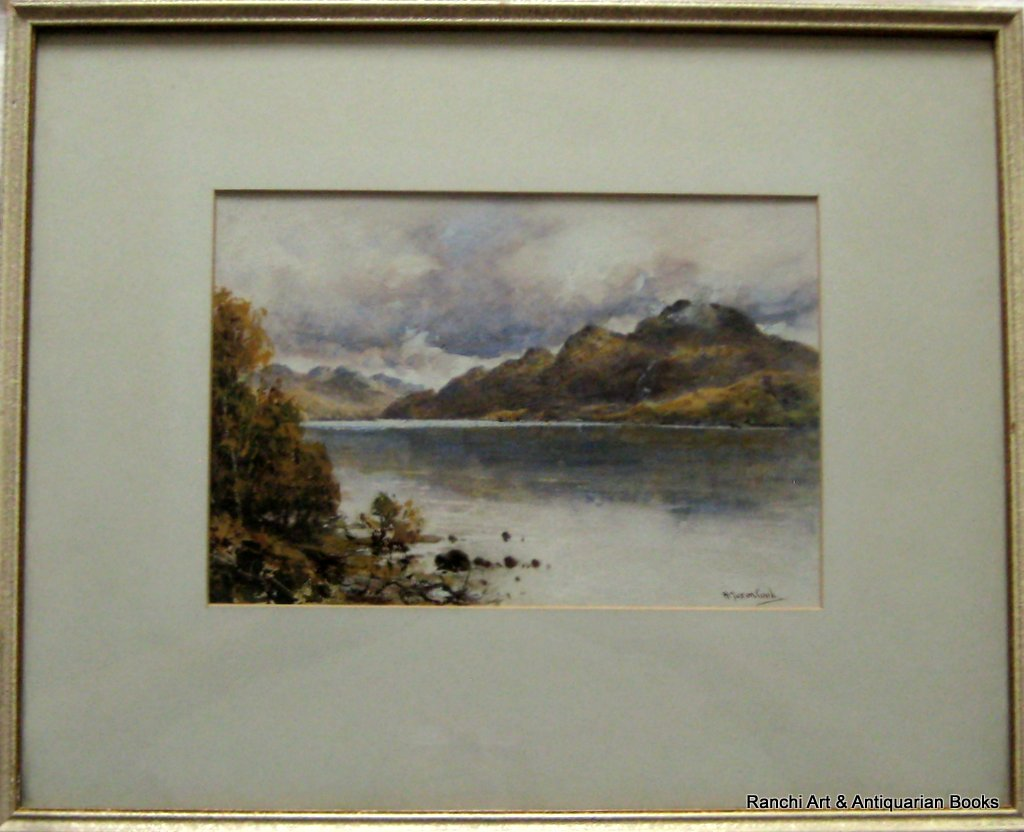 Loch Lomond & Ben Lomond, watercolour and gouache, signed H. Moxon Cook, c1920.