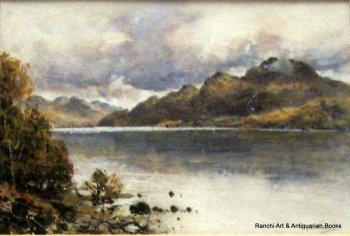 Loch Lomond & Ben Lomond, watercolour and gouache, signed H. Moxon Cook c1920.   SOLD 22.11.2017.