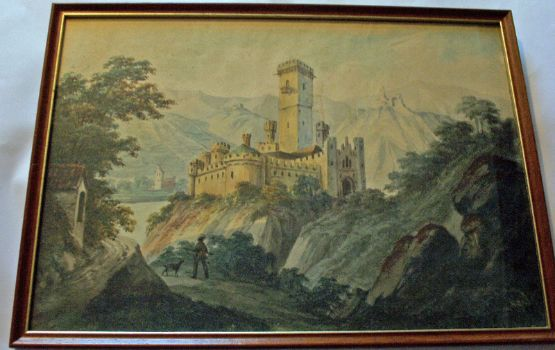 Unsigned, The Chateau, watercolour, c1900.