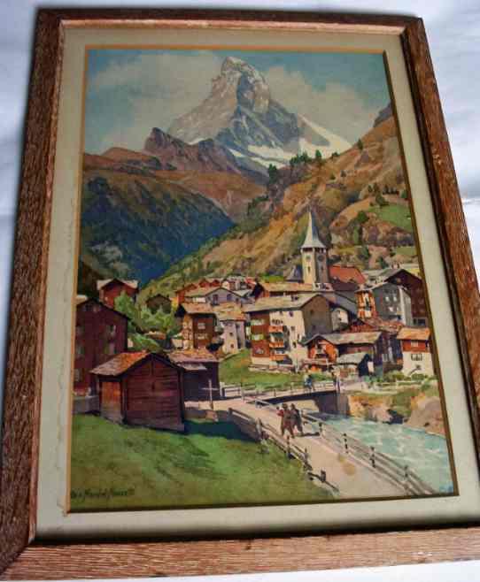Edo v. Handel-Mazzetti, Matterhorn, litho, c1960.