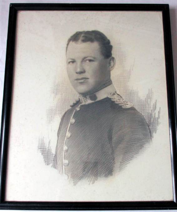 Army Officer, drawing, unsigned, c1890.