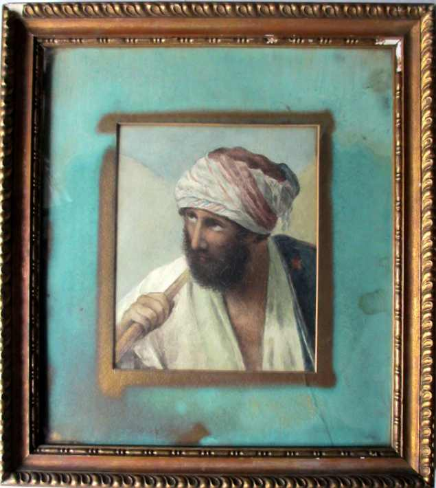 Unsigned, Arabian Portrait Study, watercolour, c1900.